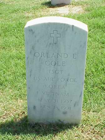 COLE (VETERAN 2 WARS), ORLAND E - Pulaski County, Arkansas | ORLAND E COLE (VETERAN 2 WARS) - Arkansas Gravestone Photos