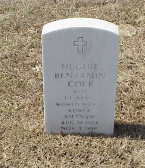 COLE (VETERAN 3 WARS), HUGHIE BENJAMIN - Pulaski County, Arkansas | HUGHIE BENJAMIN COLE (VETERAN 3 WARS) - Arkansas Gravestone Photos