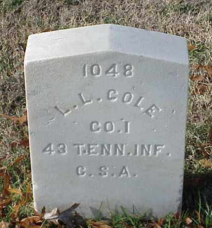 COLE (VETERAN CSA), L L - Pulaski County, Arkansas | L L COLE (VETERAN CSA) - Arkansas Gravestone Photos