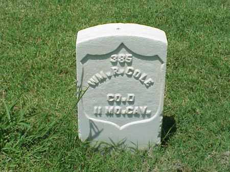 COLE (VETERAN UNION), WILLIAM R - Pulaski County, Arkansas | WILLIAM R COLE (VETERAN UNION) - Arkansas Gravestone Photos