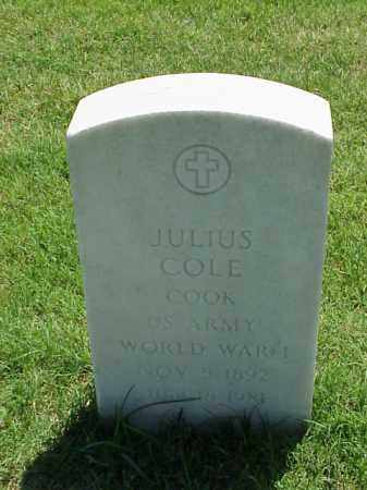 COLE (VETERAN WWI), JULIUS - Pulaski County, Arkansas | JULIUS COLE (VETERAN WWI) - Arkansas Gravestone Photos