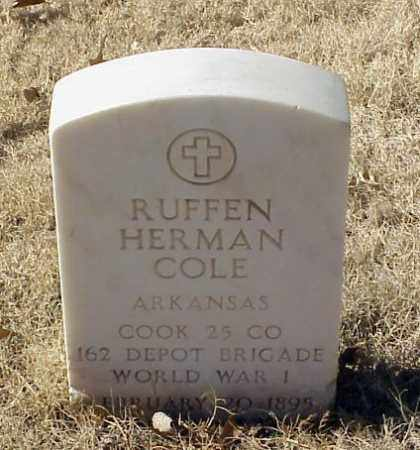 COLE (VETERAN WWI), RUFFEN HERMAN - Pulaski County, Arkansas | RUFFEN HERMAN COLE (VETERAN WWI) - Arkansas Gravestone Photos