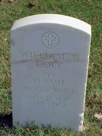 COLE (VETERAN WWI), WILLIAM W - Pulaski County, Arkansas | WILLIAM W COLE (VETERAN WWI) - Arkansas Gravestone Photos