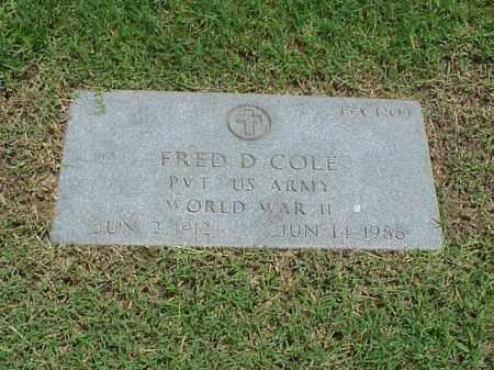 COLE (VETERAN WWII), FRED D - Pulaski County, Arkansas | FRED D COLE (VETERAN WWII) - Arkansas Gravestone Photos