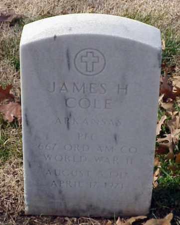 COLE (VETERAN WWII), JAMES H - Pulaski County, Arkansas | JAMES H COLE (VETERAN WWII) - Arkansas Gravestone Photos