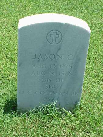 COLEMAN, JASON C - Pulaski County, Arkansas | JASON C COLEMAN - Arkansas Gravestone Photos