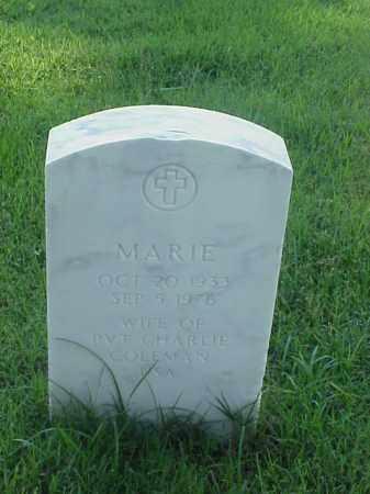 COLEMAN, MARIE - Pulaski County, Arkansas | MARIE COLEMAN - Arkansas Gravestone Photos