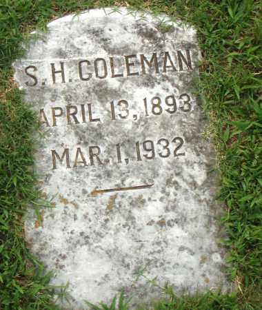 COLEMAN, S.H. - Pulaski County, Arkansas | S.H. COLEMAN - Arkansas Gravestone Photos