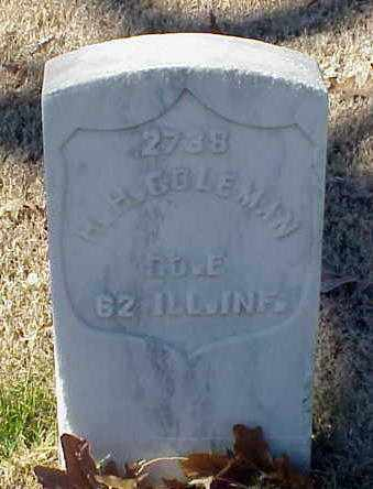 COLEMAN (VETERAN UNION), H H - Pulaski County, Arkansas | H H COLEMAN (VETERAN UNION) - Arkansas Gravestone Photos