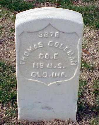COLEMAN (VETERAN UNION), THOMAS - Pulaski County, Arkansas | THOMAS COLEMAN (VETERAN UNION) - Arkansas Gravestone Photos