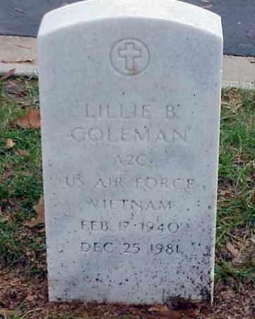 COLEMAN (VETERAN VIET), LILLIE B - Pulaski County, Arkansas | LILLIE B COLEMAN (VETERAN VIET) - Arkansas Gravestone Photos