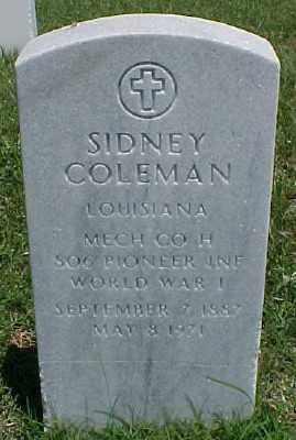 COLEMAN (VETERAN WWI), SIDNEY - Pulaski County, Arkansas | SIDNEY COLEMAN (VETERAN WWI) - Arkansas Gravestone Photos