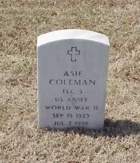 COLEMAN (VETERAN WWII), ASIE - Pulaski County, Arkansas | ASIE COLEMAN (VETERAN WWII) - Arkansas Gravestone Photos