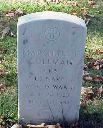 COLEMAN (VETERAN WWII), MARSHALL C - Pulaski County, Arkansas | MARSHALL C COLEMAN (VETERAN WWII) - Arkansas Gravestone Photos
