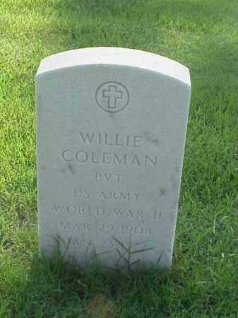 COLEMAN (VETERAN WWII), WILLIE - Pulaski County, Arkansas | WILLIE COLEMAN (VETERAN WWII) - Arkansas Gravestone Photos
