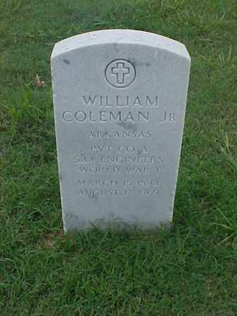 COLEMAN, JR (VETERAN WWI), WILLIAM - Pulaski County, Arkansas | WILLIAM COLEMAN, JR (VETERAN WWI) - Arkansas Gravestone Photos