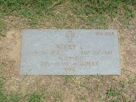 COLEY, MARY L - Pulaski County, Arkansas | MARY L COLEY - Arkansas Gravestone Photos