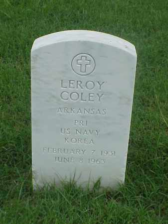 COLEY (VETERAN KOR), LEROY - Pulaski County, Arkansas | LEROY COLEY (VETERAN KOR) - Arkansas Gravestone Photos
