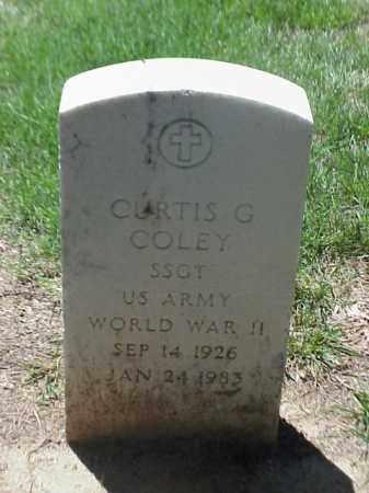 COLEY (VETERAN WWII), CURTIS G - Pulaski County, Arkansas   CURTIS G COLEY (VETERAN WWII) - Arkansas Gravestone Photos