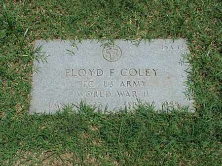 COLEY (VETERAN WWII), FLOYD F - Pulaski County, Arkansas | FLOYD F COLEY (VETERAN WWII) - Arkansas Gravestone Photos