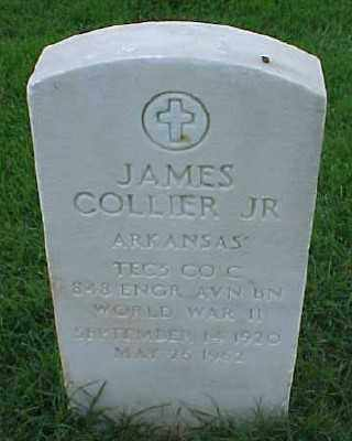 COLLIER, JR (VETERAN WWII), JAMES - Pulaski County, Arkansas | JAMES COLLIER, JR (VETERAN WWII) - Arkansas Gravestone Photos
