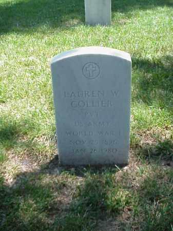 COLLIER (VETERAN WWI), LAUREN W - Pulaski County, Arkansas | LAUREN W COLLIER (VETERAN WWI) - Arkansas Gravestone Photos