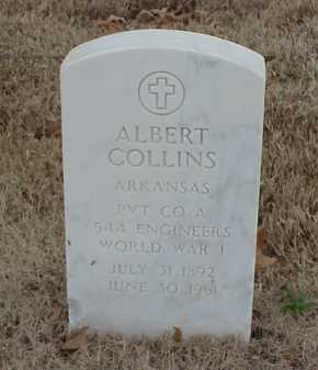 COLLINS  (VETERAN WWI), ALBERT - Pulaski County, Arkansas | ALBERT COLLINS  (VETERAN WWI) - Arkansas Gravestone Photos