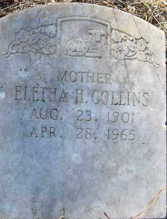 COLLINS, ELETHA H - Pulaski County, Arkansas | ELETHA H COLLINS - Arkansas Gravestone Photos