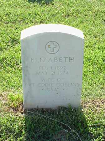 COLLINS, ELIZABETH - Pulaski County, Arkansas | ELIZABETH COLLINS - Arkansas Gravestone Photos
