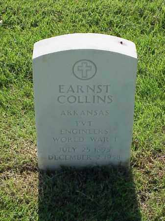 COLLINS (VETERAN WWI), EARNST - Pulaski County, Arkansas | EARNST COLLINS (VETERAN WWI) - Arkansas Gravestone Photos
