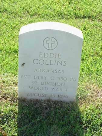 COLLINS (VETERAN WWI), EDDIE - Pulaski County, Arkansas | EDDIE COLLINS (VETERAN WWI) - Arkansas Gravestone Photos