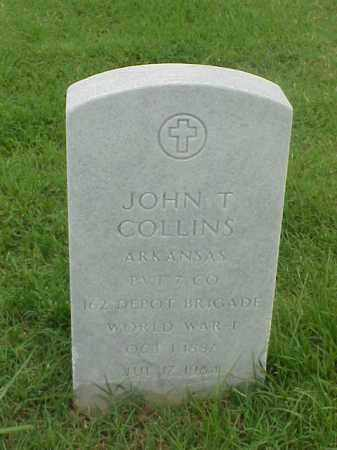 COLLINS (VETERAN WWI), JOHN T - Pulaski County, Arkansas | JOHN T COLLINS (VETERAN WWI) - Arkansas Gravestone Photos