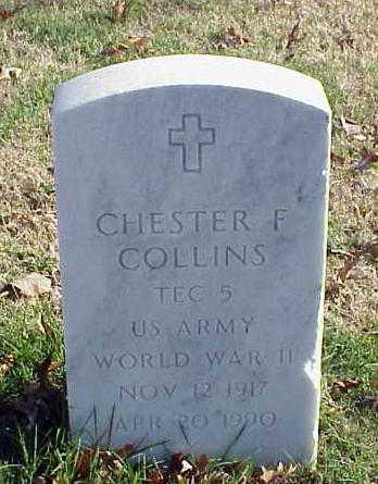 COLLINS (VETERAN WWII), CHESTER F - Pulaski County, Arkansas | CHESTER F COLLINS (VETERAN WWII) - Arkansas Gravestone Photos