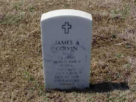 COLVIN (VETERAN 3 WARS), JAMES A - Pulaski County, Arkansas | JAMES A COLVIN (VETERAN 3 WARS) - Arkansas Gravestone Photos