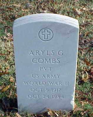 COMBS (VETERAN WWII), ARYLS G - Pulaski County, Arkansas | ARYLS G COMBS (VETERAN WWII) - Arkansas Gravestone Photos