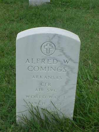 COMINGS (VETERAN WWI), ALFRED W - Pulaski County, Arkansas | ALFRED W COMINGS (VETERAN WWI) - Arkansas Gravestone Photos