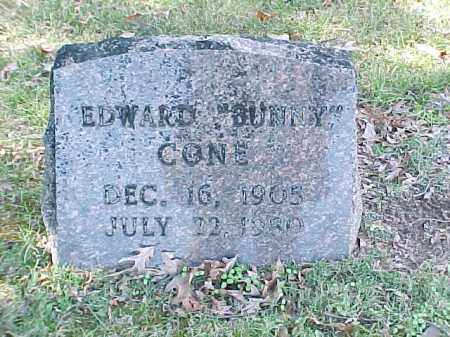 "CONE, EDWARD ""BUNNY"" - Pulaski County, Arkansas 