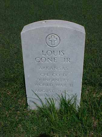 CONE, JR (VETERAN WWII), LOUIS - Pulaski County, Arkansas | LOUIS CONE, JR (VETERAN WWII) - Arkansas Gravestone Photos