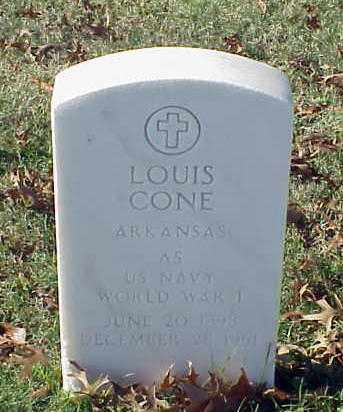 CONE (VETERAN WWI), LOUIS - Pulaski County, Arkansas | LOUIS CONE (VETERAN WWI) - Arkansas Gravestone Photos