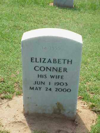 CONNER, ELIZABETH - Pulaski County, Arkansas | ELIZABETH CONNER - Arkansas Gravestone Photos