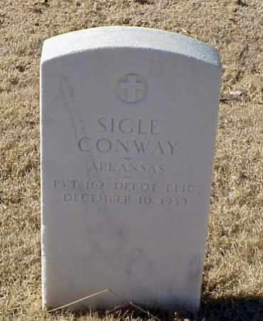 CONWAY (VETERAN WWI), SIGLE - Pulaski County, Arkansas | SIGLE CONWAY (VETERAN WWI) - Arkansas Gravestone Photos