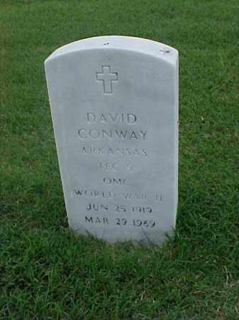 CONWAY (VETERAN WWII), DAVID - Pulaski County, Arkansas | DAVID CONWAY (VETERAN WWII) - Arkansas Gravestone Photos