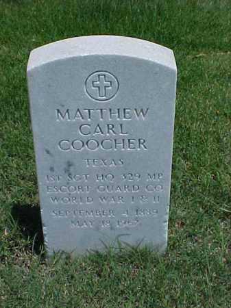 COOCHER (VETERAN 2 WARS), MATHEW CARL - Pulaski County, Arkansas | MATHEW CARL COOCHER (VETERAN 2 WARS) - Arkansas Gravestone Photos