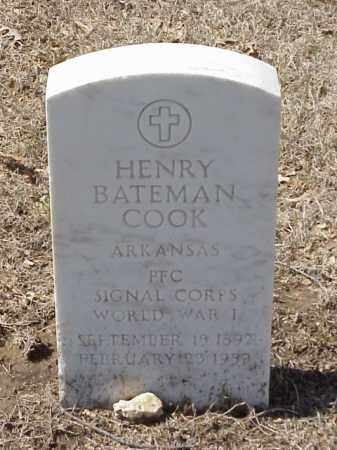 COOK  (VETERAN WWI), HENRY BATEMAN - Pulaski County, Arkansas | HENRY BATEMAN COOK  (VETERAN WWI) - Arkansas Gravestone Photos