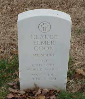COOK  (VETERAN WWII), CLAUDE ELMER - Pulaski County, Arkansas | CLAUDE ELMER COOK  (VETERAN WWII) - Arkansas Gravestone Photos