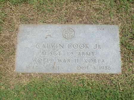 COOK, JR (VETERAN 2 WARS), CALVIN - Pulaski County, Arkansas | CALVIN COOK, JR (VETERAN 2 WARS) - Arkansas Gravestone Photos