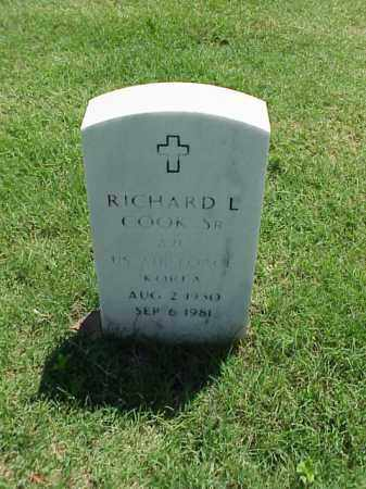 COOK, SR (VETERAN KOR), RICHARD L - Pulaski County, Arkansas | RICHARD L COOK, SR (VETERAN KOR) - Arkansas Gravestone Photos