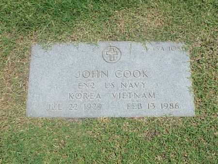 COOK (VETERAN 2 WARS), JOHN - Pulaski County, Arkansas | JOHN COOK (VETERAN 2 WARS) - Arkansas Gravestone Photos
