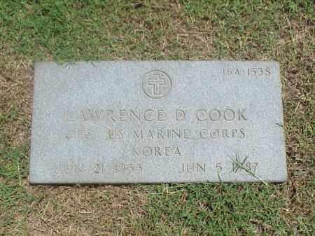 COOK (VETERAN KOR), LAWRENCE D - Pulaski County, Arkansas | LAWRENCE D COOK (VETERAN KOR) - Arkansas Gravestone Photos