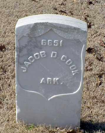 COOK (VETERAN SAW), JACOB D - Pulaski County, Arkansas | JACOB D COOK (VETERAN SAW) - Arkansas Gravestone Photos